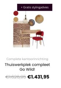 Thuiswerkplek compleet Go Wild