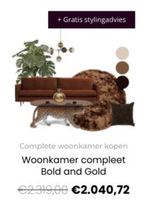 Woonkamer compleet Bold en Gold